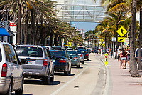 Ft. Lauderdale, Florida.  Street Scene, Seabreeze Blvd., Florida State Highway A1A.
