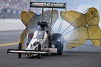 Sep 15, 2013; Charlotte, NC, USA; NHRA top fuel dragster driver Brittany Force during the Carolina Nationals at zMax Dragway. Mandatory Credit: Mark J. Rebilas-