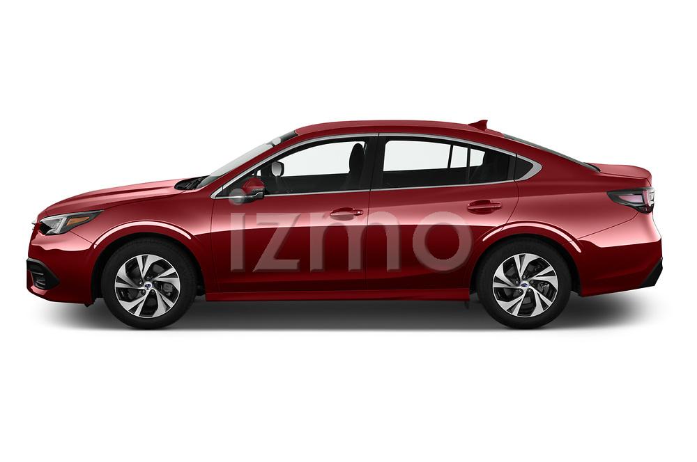 Car Driver side profile view of a 2020 Subaru Legacy Premium 4 Door Sedan Side View