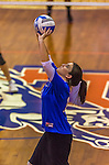 2 November 2014: Yeshiva University Maccabee setter Emily Rohan, a Junior from Dallas, TX, in action against the Purchase College Panthers at SUNY Purchase College, in Purchase, NY. The Maccabees defeated the Panthers 3-1 in the NCAA Division III Women's Volleyball Skyline matchup. Rohan was named an HVIAC All-Conference team member for the 2014 Women's Volleyball season. Mandatory Credit: Ed Wolfstein Photo *** RAW (NEF) Image File Available ***