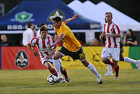 Mark Bloom #21, Lance Watson...AC St Louis were defeated 1-2 by Austin Aztek in their inaugural home game in front of 5,695 fans at Anheuser-Busch Soccer Park, Fenton, Missouri.