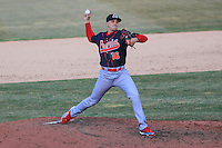 Peoria Chiefs pitcher Zach Loraine (16) delivers a pitch during a game against the Wisconsin Timber Rattlers on April 12th, 2015 at Fox Cities Stadium in Appleton, Wisconsin.  Peoria defeated Wisconsin 11-1.  (Brad Krause/Four Seam Images)
