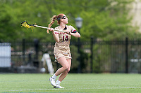 NEWTON, MA - MAY 14: Jillian Reilly #14 of Boston College passes the ball during NCAA Division I Women's Lacrosse Tournament first round game between Fairfield University and Boston College at Newton Campus Lacrosse Field on May 14, 2021 in Newton, Massachusetts.