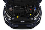 Car stock 2019 Ford EcoSport SES 5 Door SUV engine high angle detail view