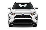 Car photography straight front view of a 2021 Toyota RAV4-Hybride-Rechargeable Premium-Plus 5 Door SUV Front View