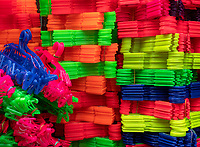 Colorful Plastic coat hangers in China Town, Manila Philippines.