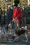 The Mayor of Troutbeck Hunt Day. The Meet at the Queens Head Troutbeck Cumbria 2018.