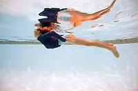 Kids Swimming in Pool in Southern California