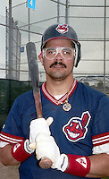 Cleveland Indians Alvaro Espinoza (10) during Spring Training 1993 at Chain of Lakes Park in Winter Haven, Florida.  (MJA/Four Seam Images)