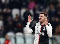 Calcio, Serie A: Juventus - Parma, Turin, Allianz Stadium, January 19, 2020.<br /> Juventus' Aaron Ramsey reacts during the Italian Serie A football match between Juventus and Parma at the Allianz stadium in Turin, January 19, 2020.<br /> UPDATE IMAGES PRESS/Isabella Bonotto