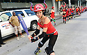 Roller Derby girl, Running of the Bulls, 2013