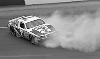 Kyle Petty (7) Ford spins crashes 28th place finish Motorcraft 500 at Atlanta International Raceway in Hampton, GA on March 16, 1986.   (Photo by Brian Cleary/www.bcpix.com)