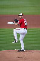 Washington Nationals pitcher Austin Voth (50) during a Major League Spring Training game against the Miami Marlins on March 20, 2021 at FITTEAM Ballpark of the Palm Beaches in Palm Beach, Florida.  (Mike Janes/Four Seam Images)