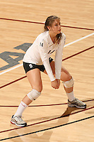 STANFORD, CA - DECEMBER 5:  Katherine Sebastian of the Stanford Cardinal during Stanford's 3-0 win over Albany in the first round of the NCAA Division 1 Women's Volleyball Championships on December 5, 2008 at Maples Pavilion in Stanford, California.