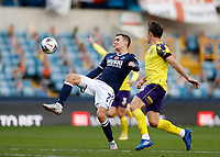 31st October 2020; The Den, Bermondsey, London, England; English Championship Football, Millwall Football Club versus Huddersfield Town; Jed Wallace of Millwall controlling the ball with Jonathan Hogg of Huddersfield Town marking