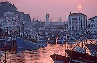 Europe/France/Aquitaine/64/Pyrénées-Atlantiques/Saint-Jean-de-Luz: Le port le soir