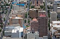 aerial photograph of Albuquerque, New Mexico