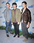 Kevin Jonas, Joe Jonas, Nick Jonas attends the 102.7 KIIS FM'S Jingle Ball 2012 held at The Nokia Theater Live in Los Angeles, California on December 01,2012                                                                               © 2012 DVS / Hollywood Press Agency