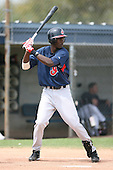 March 20th 2008:  Abner Abreu of the Cleveland Indians minor league system during Spring Training at Chain of Lakes Training Complex in Winter Haven, FL.  Photo by:  Mike Janes/Four Seam Images