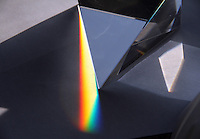 BOGOTA-COLOMBIA-3-02-2013 .Descomposición de la luz blanca por un prisma.Decomposition of white light through a prism.., (Photo / VizzorImage / Felipe Caicedo / Staff).
