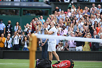 9th July 2021, Wimbledon, SW London, England; 2021 Wimbledon Championships, semi finals; Denis Shapovalov Can leaves the court after his loss to to Novak Djokovic