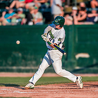 20 August 2017: Vermont Lake Monsters infielder Will Toffey, a 4th round draft pick for the Oakland Athletics, in action against the Connecticut Tigers at Centennial Field in Burlington, Vermont. The Lake Monsters rallied to edge out the Tigers 6-5 in 13 innings of NY Penn League action.  Mandatory Credit: Ed Wolfstein Photo *** RAW (NEF) Image File Available ***