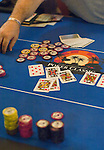 A player's winning hand: Quad Kings