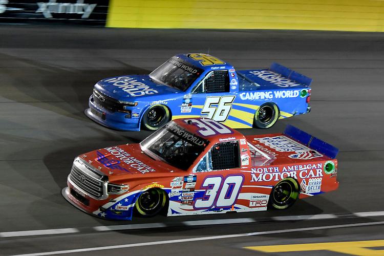 #30: Danny Bohn, On Point Motorsports, Toyota Tundra North American Motor Car, #56: Tyler Hill, Hill Motorsports, Chevrolet Silverado Camping World