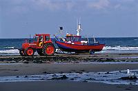 Europe/France/Nord-Pas-de-Calais/Pas-de-calais/62/ Ambleteuse: Retour des flobarts, canot des pêcheurs et myticulteurs