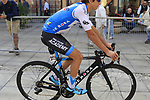 Omer Goldshtein (ISR) Israel Cycling Academy arrives at sign on before the start of the 99th edition of Milan-Turin 2018, running 200km from Magenta Milan to Superga Basilica Turin, Italy. 10th October 2018.<br /> Picture: Eoin Clarke | Cyclefile<br /> <br /> <br /> All photos usage must carry mandatory copyright credit (© Cyclefile | Eoin Clarke)