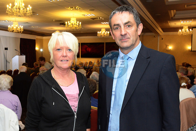 Cllr. Richie Culhane and Geraldine Simpson at the Save the Dominican Church public meeting in the Westcourt Hotel.