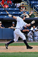Staten Island Yankees outfielder Ben Gamel #24 during a game against the Jamestown Jammers at Richmond County Bank Ballpark at St. George on August 01, 2011 in Staten Island, NY.  Staten Island defeated Jamestown 5-0.  Tomasso DeRosa/Four Seam Images