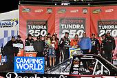 NASCAR Camping World Truck Series<br /> Toyota Tundra 250<br /> Kansas Speedway, Kansas City, KS USA<br /> Friday 12 May 2017<br /> Kyle Busch, Cessna Toyota Tundra celebrates his win in Victory Lane<br /> World Copyright: Nigel Kinrade<br /> LAT Images<br /> ref: Digital Image 17KAN1nk07155