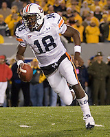 October 23, 2008: Auburn quarterback Kodi Burns heads to the endzone on a 9-yard touchdown run. The West Virginia Mountaineers defeated the Auburn Tigers 34-17 on October 23, 2008 at Mountaineer Field, Morgantown, West Virginia.