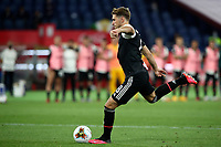 Juventus' Aaron Ramsey kicks the ball during the penalty shootout of the Italian Cup football final match between Napoli and Juventus at Rome's Olympic stadium, June 17, 2020. Napoli won 4-2 at the end of a penalty shootout following a scoreless draw.<br /> UPDATE IMAGES PRESS/Isabella Bonotto