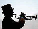 October 17, 2009.Bugler plays the call to post at Oak Tree, Santa Anita Park,  Arcadia, CA
