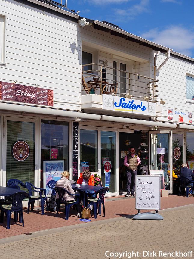 Restaurant Sailor's am Südhafen, Insel Helgoland, Schleswig-Holstein, Deutschland, Europa<br /> Restaurant Sailor's at South Port Helgoland island, district Pinneberg, Schleswig-Holstein, Germany, Europe