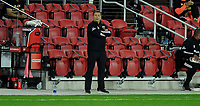 WASHINGTON, DC - OCTOBER 28: Chad Ashton Interim Head coach of D.C. United during a game between Columbus Crew and D.C. United at Audi Field on October 28, 2020 in Washington, DC.
