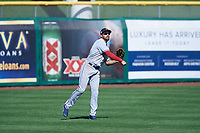 Surprise Saguaros left fielder Michael O'Neill (10), of the Texas Rangers organization, during an Arizona Fall League game against the Scottsdale Scorpions on October 27, 2017 at Scottsdale Stadium in Scottsdale, Arizona. The Scorpions defeated the Saguaros 6-5. (Zachary Lucy/Four Seam Images)