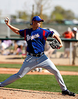 Cody Eppley - Texas Rangers - 2009 spring training.Photo by:  Bill Mitchell/Four Seam Images
