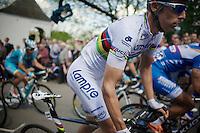 World Champion 2013: Rui Costa (POR/Lampre-Merida) up the Mur de Huy (max 17%)<br /> <br /> La Flèche Wallonne 2014
