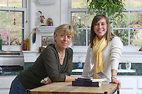 {November 7, 2009} 11:24:13 AM -- Fredericksburg, VA. -- Jody Williams, a Nobel Peace prize winner for her work in eradicating land mines, left, has pulled together a cookbook with recipes from other Nobel laureates and people who have worked for peace. She did the work in combination with her stepdaughter Emily Goose, right, as part of Emily's high school senior project.  ... -- ...Photo by Andrew B. Shurtleff, Freelance.