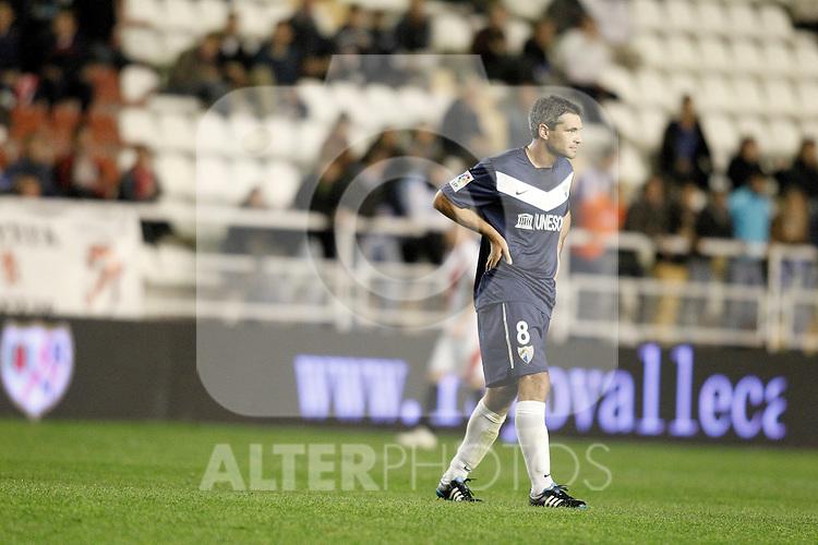 Malaga's Jeremy Toulalan during La Liga Match. October 26, 2011. (ALTERPHOTOS/Alvaro Hernandez)
