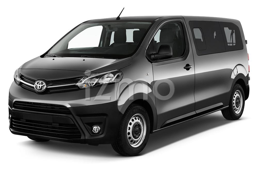 2017 Toyota Proace-Verso Medium 5 Door Passenger Van Angular Front stock photos of front three quarter view