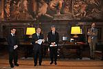 L'AMBASCIATORE JEAN MARC DE LA SABLIERE CON FRANCESCO GIRO E ALAIN ELKANN
