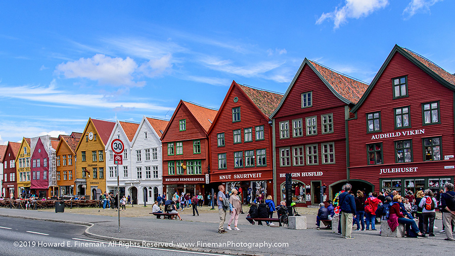 The restoration of the Bryggen wharf houses from the Hanseatic League, 14th-15th century