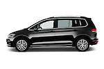 Car Driver side profile view of a 2016 Volkswagen Touran Highline 5 Door Mini Mpv Side View