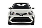 Car photography straight front view of a 2021 Toyota C-HR LE 5 Door SUV Front View