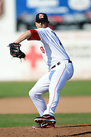 Portland Sea Dogs pitcher Anthony Ranaudo #44 during a game versus the New Britain Rock Cats at Hadlock Field in Portland, Maine on May 26, 2012.  (Ken Babbitt/Four Seam Images)
