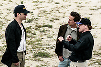Tom Hanks, Brian Glazer, Ron Howard prepare to watch the launch of Space Shuttle  Endeavor, STS 59 Mission, April 1994, Kennedy Space Center, Titusville, FL.  (Photo by Brian Cleary/bcpix.com)